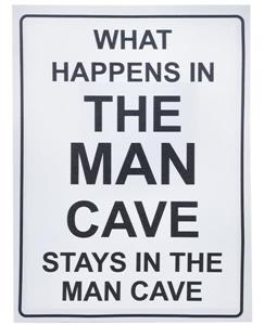 What Happens in  the Man Cave - Canvas