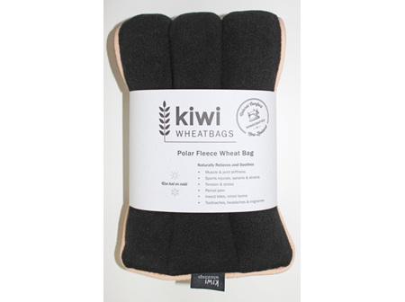 Wheat Bag Black Polar Fleece