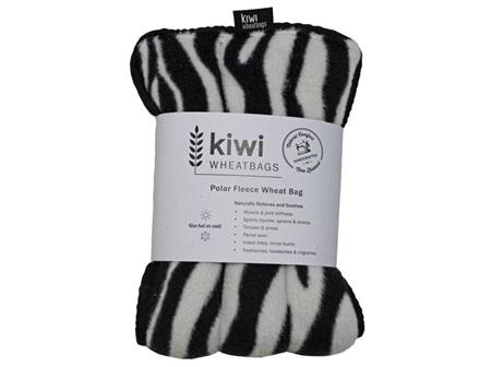 Wheat Bag Zebra Polar Fleece
