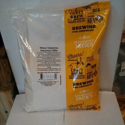 Wheat Unhopped Dry Spray Malt 500g
