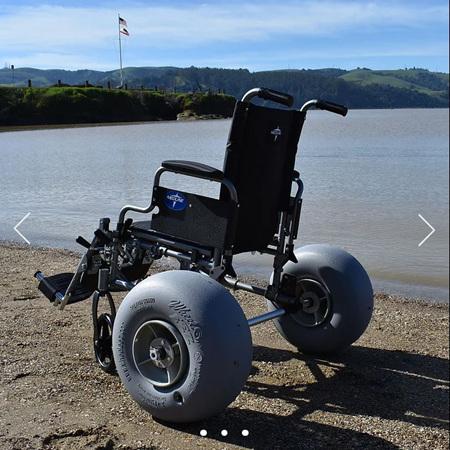 WheelEEZ® Beach Wheelchair Rear Conversion Kit