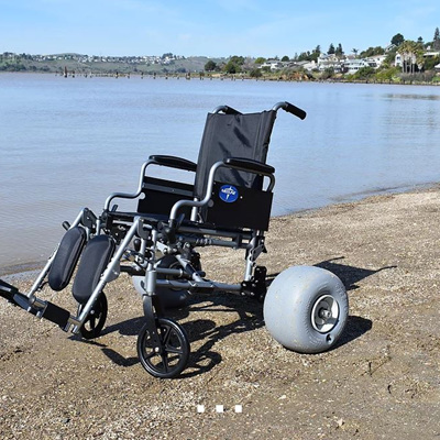 Wheeleez (TM) Beach Wheelchair Conversion Kit