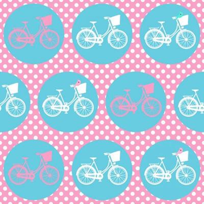 Whimsical Wheels - Pink/Aqua Bikes