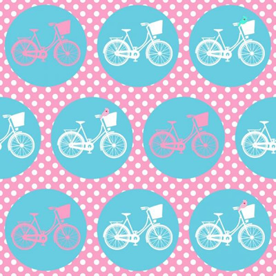 Whimsical Wheels - Pink/Aqua Bikes
