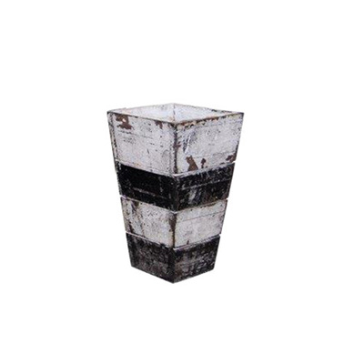 White and Black wooden pot