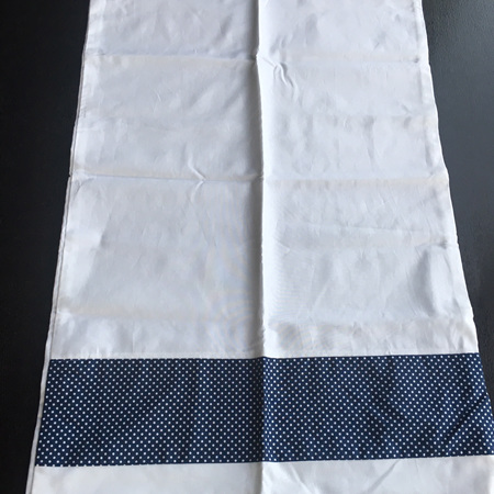 White and Blue Pillowcase x 1
