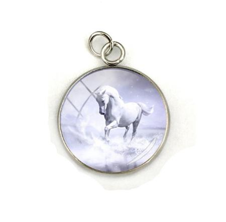 White Beauty Horse Pendant