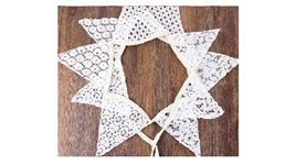 White Cotton Lace Bunting