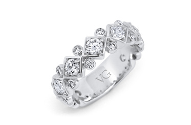 White Gold Brilliant Cut Diamond Band