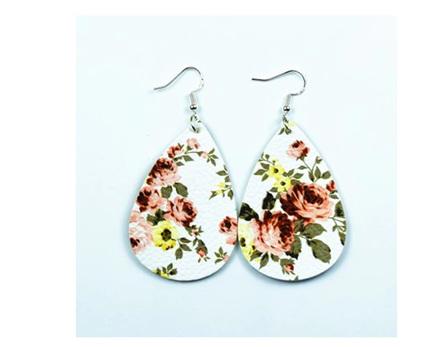 White & Golden Floral Earrings