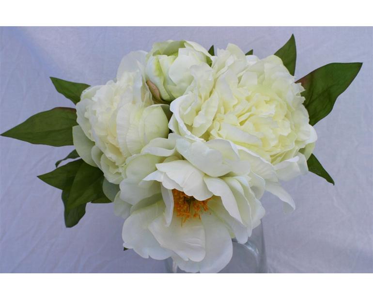 White/green Peony Bouquet