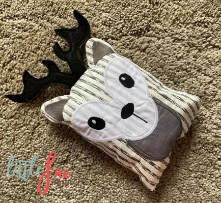 White & Grey Deer Animal Wheat Bag