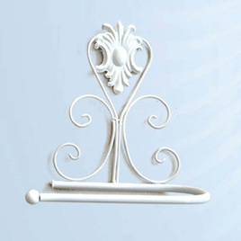 White Iron Luxury Toilet Roll Holder