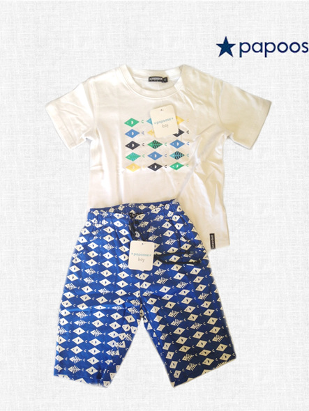 White Papoose Fish T