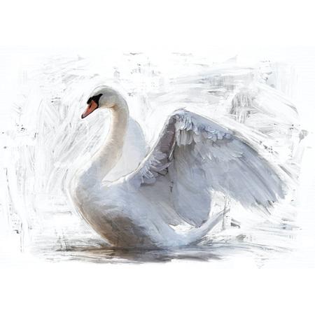 White Swan Decoupage Paper by Mint
