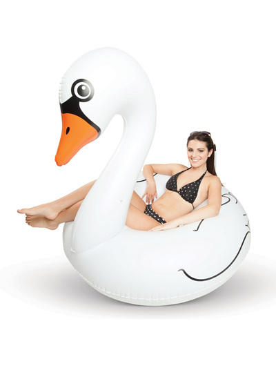 White Swan Pool Float
