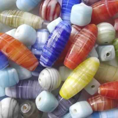White Swirl Bead Mix