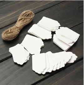 White tags - scallop design
