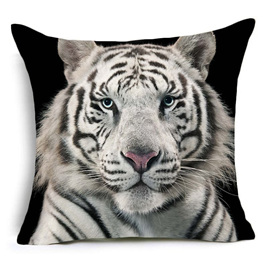 WHITE TIGER CUSHION COVER