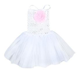 WHITE TUTU DRESS SIZE 0-2YRS