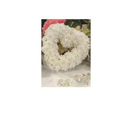 White velvet rose heart 20cm 632