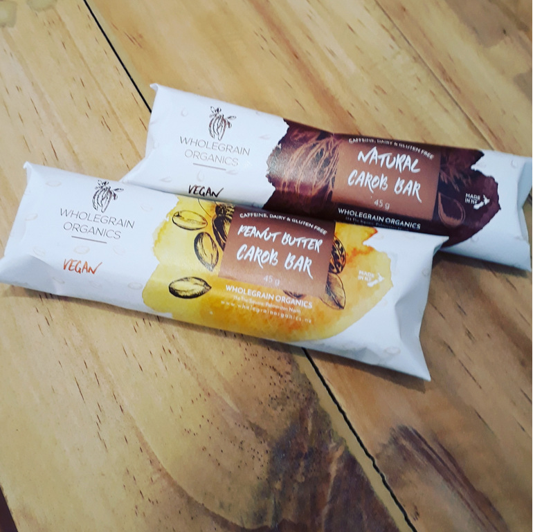 Wholegrain Organics Carob Bar 40g