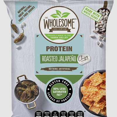 Wholesome Food Co Protein Chips - Roasted Jalapeno - 70g