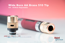 Wide Bore AA Brass 510 Tip