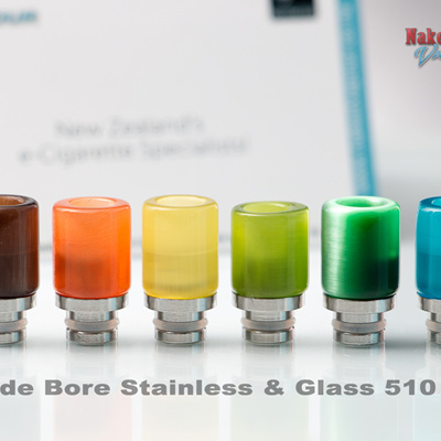 Wide Bore Stainless & Glass 510 Tip