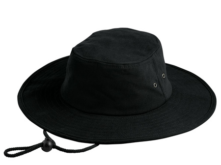 Wide brim Outdoors Hat Black