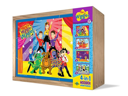 Wiggles 4 in 1 Wood Puzzles in a Box