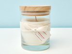 Wild Honeysuckle scented soy candle - large glass tumbler with wooden lid