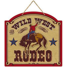 Wild west rodeo mdf sign