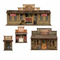 Wild West Town Cutout