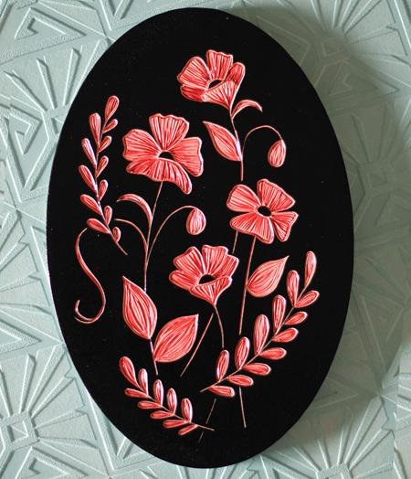 Wildflower 20x30cm oval original