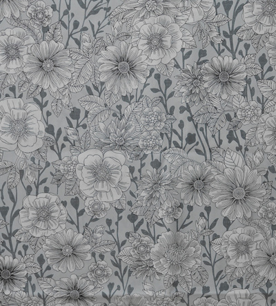 Wildflowers Colouring-In Fabric