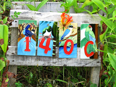 WILDSIDE GIFTS NZ BIRDS HOUSE NUMBER TILES