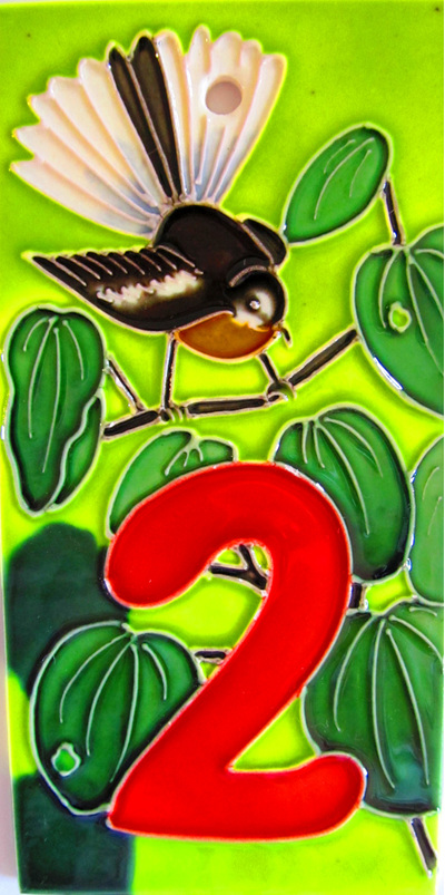 WILDSIDE GIFTS NZ BIRDS HOUSE NUMBER TILES