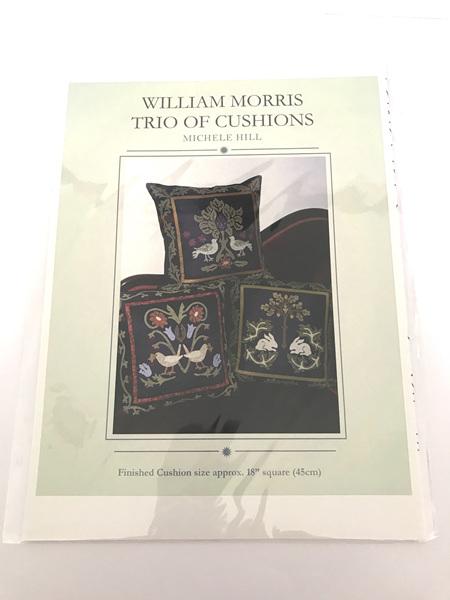 William Morris Trio of Cushions Pattern