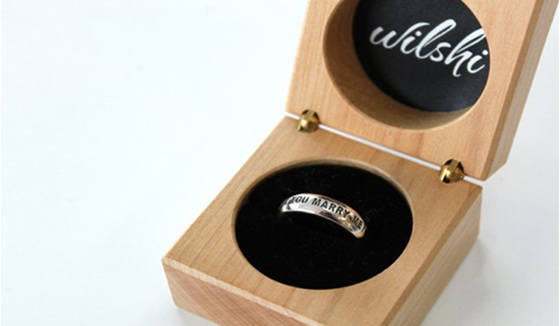 Wilshi Classic Proposal Ring in Wilshi Wooden Box