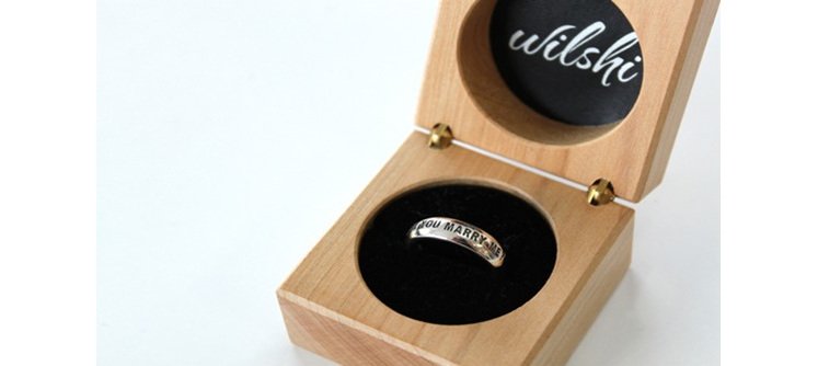 Wilshi 'Classic' Proposal Ring in Wooden Ring Box