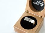 Wilshi Metro Proposal Ring in handmade natural wooden box
