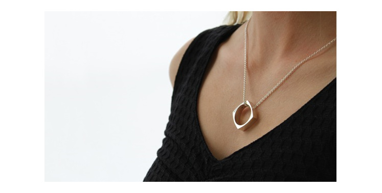 Wilshi Metro Proposal Ring on sterling silver necklace