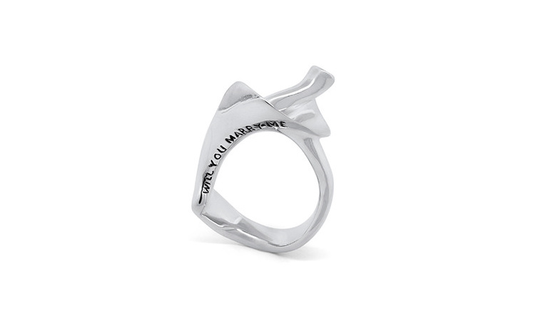 Wilshi Shell Proposal Ring - Will you Marry Me? engraving