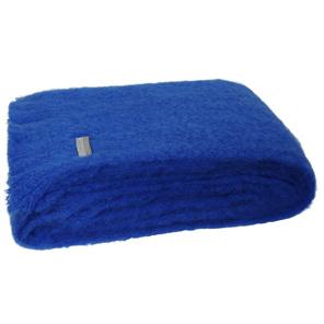 Windermere Mohair Throw Blanket Cobalt Blue