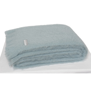 Windermere Mohair Throw Blanket Glacier