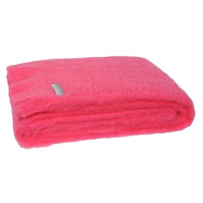 Mohair Throw Blanket - Hot Pink