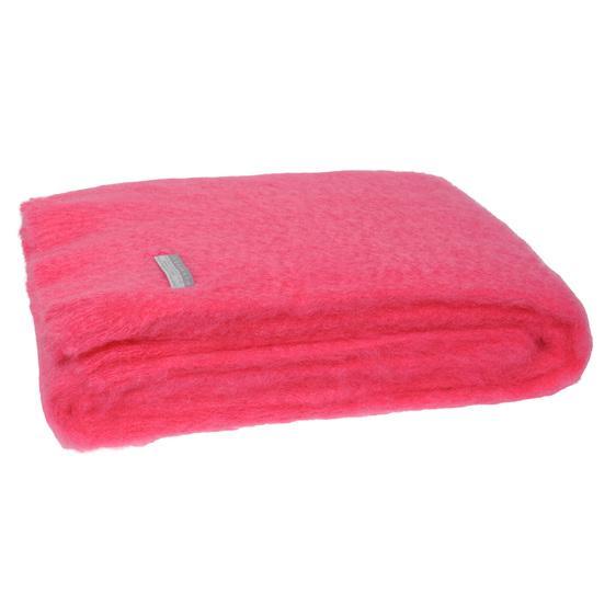 Windermere Mohair Throw Blanket Hot Pink