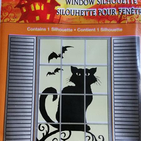 Window Silhouette - Halloween Cat