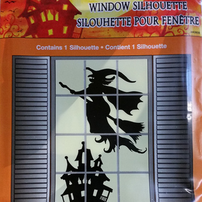 Window Silhouette - Halloween Witch